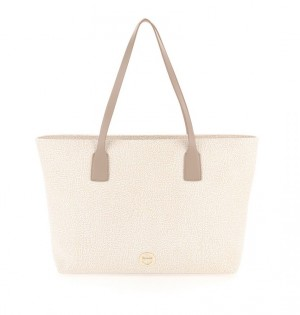 Borbonese - Shopping Bag Large colore beige