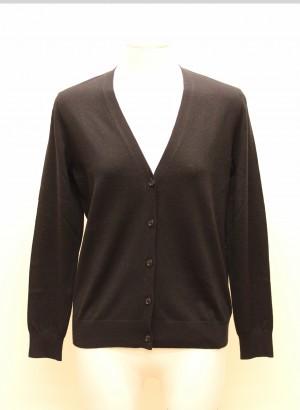 Burberry 4003841 Cardigan nero in lana merino