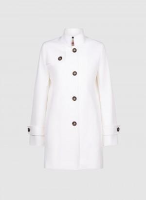 Cinzia Rocca 8R2600151I405 Giacca Icons bianca in nylon tecnico comfort