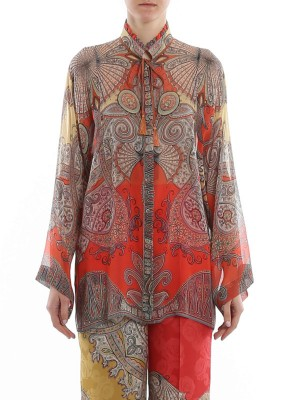 Etro 201D1356943320700 Camicia stampa Paisley