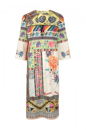 Etro 201D1631154778000 Abito stampa patchwork
