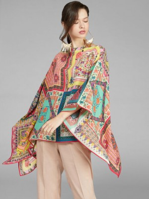 Etro 201R1580457480500 Poncho stampa patchwork