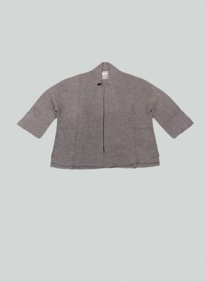 Hubert Gasser PE2129137LIGHTGREY Cardigan corto grigio