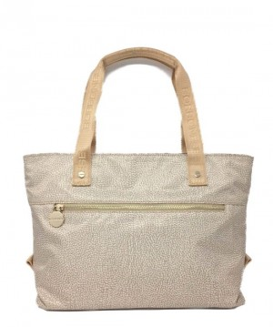 Borbonese - Borsa Shopping Large in pelle colore Beige