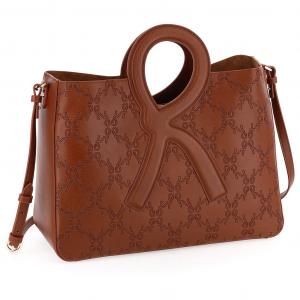 Roberta di Camerino C04006 R-Handle Shopping Bag medium cuoio