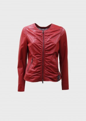 The Jackie Leathers AFRODITE PLON Giacca in pelle rossa