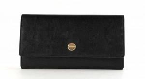 Borbonese - Portafoglio Large con patta in pelle Colore nero
