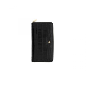 Borbonese 930111I67100 P.foglio large zip around di pelle