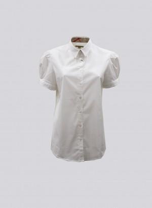 Burberry 3721856 Camicia bianca mezza manica