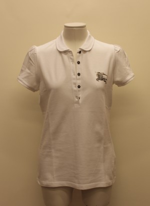 Burberry 3913466 Polo bianca con logo