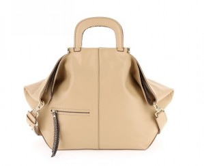 Borbonese - Borsa CHARLOTTE Large in pelle colore Beige