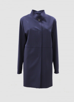 Cinzia Rocca 7R2600A50I402 Cappotto Icons blu navy con collo alto