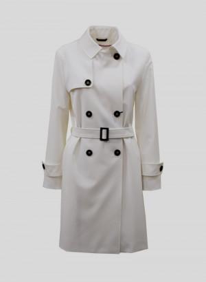 Cinzia Rocca 8R2200151L405 Trench in nylon tecnico confort bianco