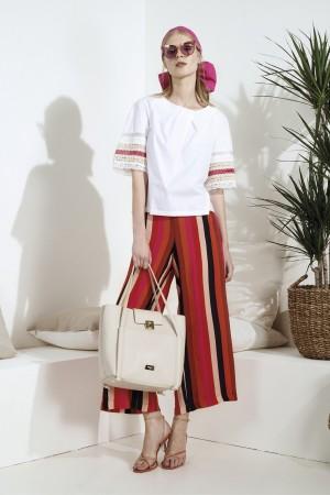 Clips More - Pantalone a righe multicolor