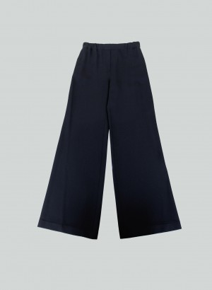 Clips Tricot - Pantalone arricciato in cady Nero