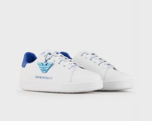 Emporio Armani - Sneakers pelle charm aquila