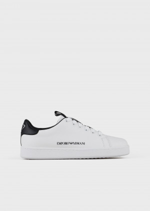 Emporio Armani X3X132XM7891D611 Sneakers in pelle con logo laterale