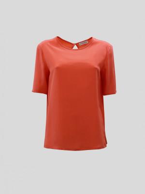 Etro 201D1360385040661 Top in seta corallo