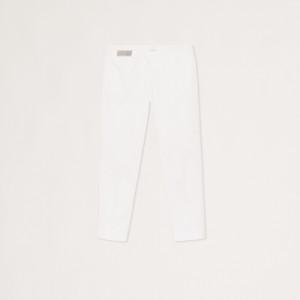Fabiana Filippi PAD270W768-0000-A919-21 Pantalone deruta in cotone, bianco