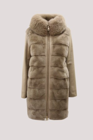 Herno PLC030D-18106-2150 Cappotto in cashmere e visone