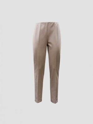 Les Copains A200L37810209 Pantalone elastico interno jersey crema
