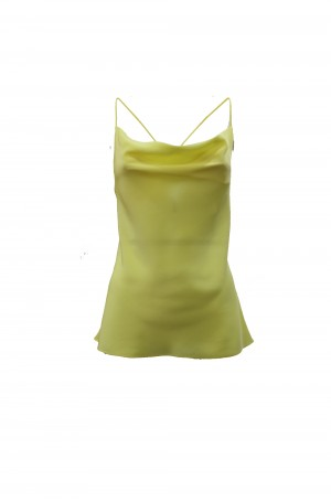 M Missoni 2DK000192W001020738 Top in crepe de chine giallo