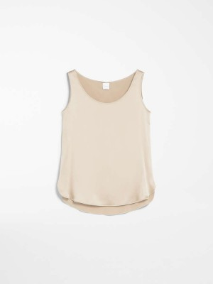 Max Mara 3166020606057 Top in raso di seta PAN