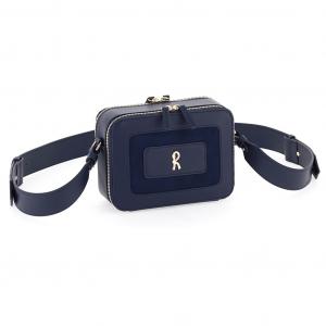 Roberta di Camerino C05014 R-Metallo Camera case bag small blu