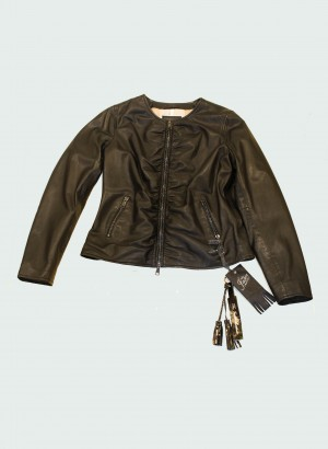 The Jack and Jackie Leathers Afrodite Giacca in pelle nera