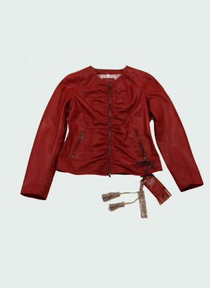 The Jack and Jackie Leathers Afrodite Giacca in pelle rossa