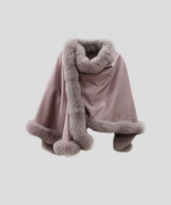 Heresis DH0273G30019 Mantella bordo volpe rosa antico